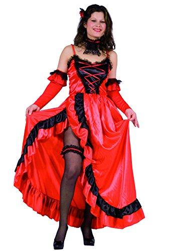 FIORI PAOLO 25892–Bailarina Can-Can, talla S, rojo/negro