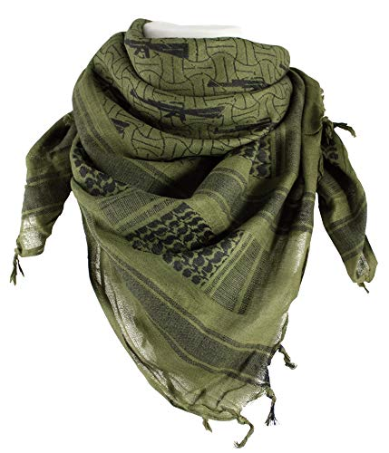 Red Rock Outdoor Gear RED7015-BRK Shemagh Head Wrap M16, M16 Rifle OD/Black, One Size