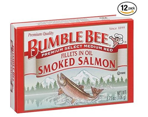 Bumble Bee Smoked Salmon Fillets in Oil 3.75oz can (Pack of 12)