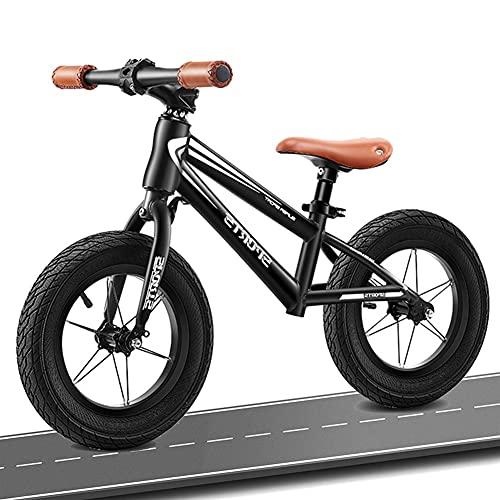 HWF Bicicleta Sin Pedales Bicicleta de Equilibrio Ruedas de 16 Pulgadas, Niño Grande Bicicleta de Equilibrio Sin Pedal Bicicleta para niños/niñas 6, 7, 8 años, Asiento Ajustable, Carga 80kg