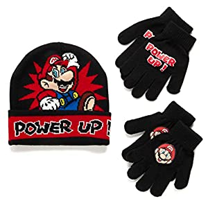 Nintendo Super Mario Bros. Winter Hat and 2 Pair Gloves (Age 4-7)