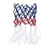 LIOOBO Basketballnetz Ersatz Nylon Basketball Netz für Basketballkorb Outdoor-Indoor (rot, weiß und blau)