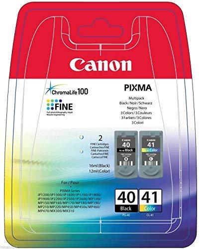 Canon PG-40+CL-41 0615B043 Tri Farbe (Gelb/Magenta/Cyan) original Tinten Multipack für Pixma Inkjet Drucker