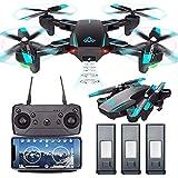 Modèle de Jouet Mini Drone avec caméra Adulte WiFi HD Photographie aérienne 720P Quatre Axes Hauteur Fixe Grand Angle Pliage Avion 3D Rouleau télécommande télécommande Avion débutant modèle intellige