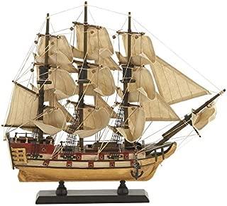 Deco 79 71633 木材帆船家居装饰产品,38.10 cm W/35.56 cm 高