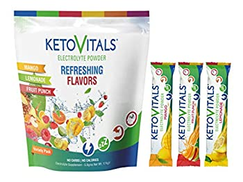 Keto Vitals Original Electrolyte Powder Stick Packs | Keto Friendly Electrolyte Travel Packets | Variety Pack Individual Packets Energy Drink Mix | Zero Calorie Zero Carb  Original Assorted 30 count