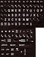 Large Print English Keyboard Stickers Labels Overlays (Lexan polycarbonate, 3M adhesive)..