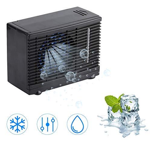 Tnfeeon DC 12 V mini-airconditioner, draagbaar, autokoeler, zomerventilator met 2 snelheidsniveaus instelbaar voor huisdieren