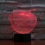 Apple Led Night Light 3D Color Changing Lamp Decoration Nightlight Bulbing Toys Decorative Home Bulbing Usb