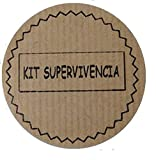 100 Etiquetas adhesivas kraft KIT DE SUPERVIVENCIA