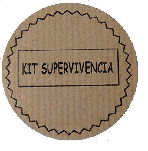 100 Etiquetas adhesivas kraft KIT DE SUPERVIVENCIA