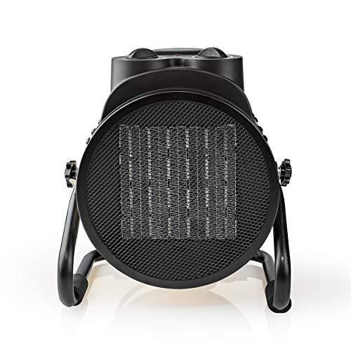 Nedis - Keramik-Industriedesign-Heizlüfter - Thermostat - PDC-Heizelement - 3 Stufen - Lüfterfunktion - Überhitzungsschutz - 3000 W - IP24 - Gelb