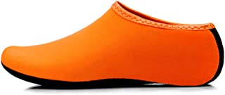 JIASUQI Kids, Womens and Mens Classic Barefoot Water Sports Skin Shoes Aqua Socks for Beach Swim Surf Yoga Exercise