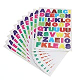 ULTNICE 10 Sheet Alphabet Stickers Colourful Letter Stickers for Scrapbooking A to Z