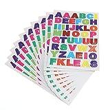 Rosenice - Adesivi con lettere dell'alfabeto A a Z, per bambini, fai da te, 10 fogli