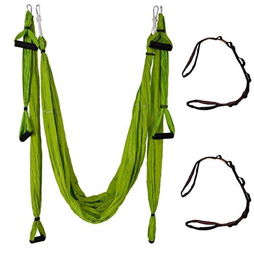 Qubabobo T210 - Columpio de tafetán de nailon para yoga (antigravedad, 301 kg de carga), verde