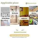 Wand-Dekorativer Wandaufkleber für Küche, Badezimmer, 10 cm x 10 m, silberfarben / Grau - 4