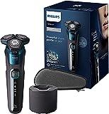 Philips S5579/50 Rasoi Elettrici Series 5000 Wet&Dry, Testine Contourfollowing 360D Con La...