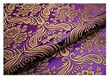 MUYUNXI Tela Saten Tela Raso por Metros para Vestidos De Novias Pijamas Vestidos Blusas Ropa Interior Artesanías 75 Cm De Ancho Vendido por Metro(Color:Violeta)