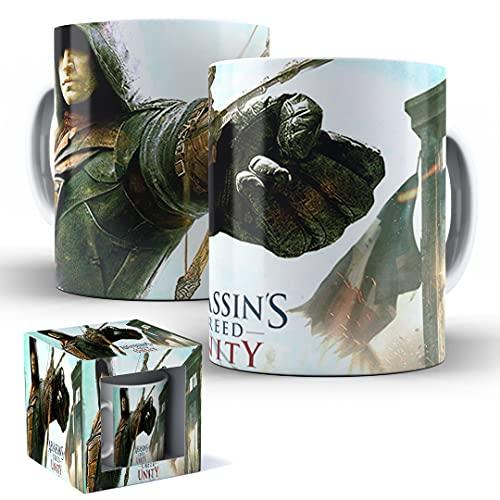 Caneca de Porcelana com Caixinha Presente Assassin's Creed Unity mod.03
