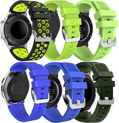 Gransho Correa de Reloj Reemplazo 22mm, la Correa de Reloj Watch Band Accessorios (22mm, 6PCS A)