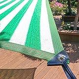 Shade Nnet Shade neto verde-blanco sombra toldo de tela al aire libre Sun Refugio cortina de Sun del acoplamiento de la red Cubierta de plantas for mascotas instalaciones y actividades cubren bloqueo
