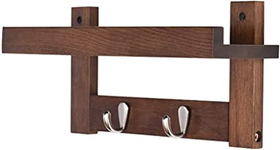 Coat Hook Coat Rack Creative Japanese Style Wall Bedroom Coat Rack Solid Wood Production Wall-hung Hanger Beautiful Patter...