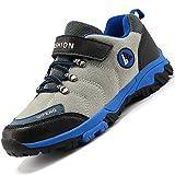 Unitysow Zapatos de Niños Zapatillas de Senderismo Botas de Montaña Impermeables Deportiva al Aire Libre Senderismo Calzado de Trekking EU31-40,Gris,EU36