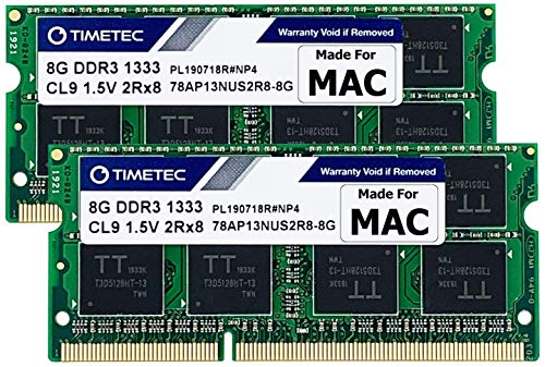 Timetec Hynix IC 16GB Kit (2x8GB) compatibile con Apple DDR3 1333MHz PC3-10600 SODIMM Memory Upgrade For Mac (16GB Kit (2x8GB))