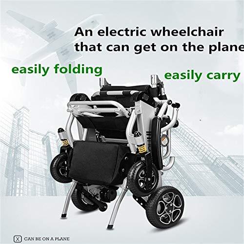 JINKEBIN Silla de ruedas eléctrica eléctrica de los precios de la silla de ruedas eléctrica del poder ligero minusválidos para las personas con discapacidad, ancianos