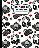 Composition Notebooks: Video Game Notebook Wide Ruled 7.5' X 9.25' - 110 Pages
