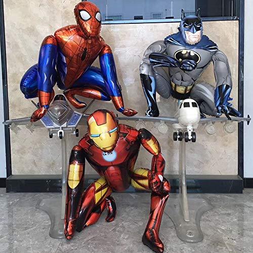 yuanchuang Ballon 1 Set 3D Grand Spider-Man Iron-Man Batman Feuille Ballons Super Héros Fête d'anniversaire Décoration Fournitures Enfants Cadeaux Air Toys Livraison Aléatoire