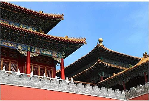 SLZJ Ciudad Prohibida China Palace Beijing Landmark Jigsaw Puzzle Juego de desafío Intelectual de Alta dificultad de madera-6000 tabletas