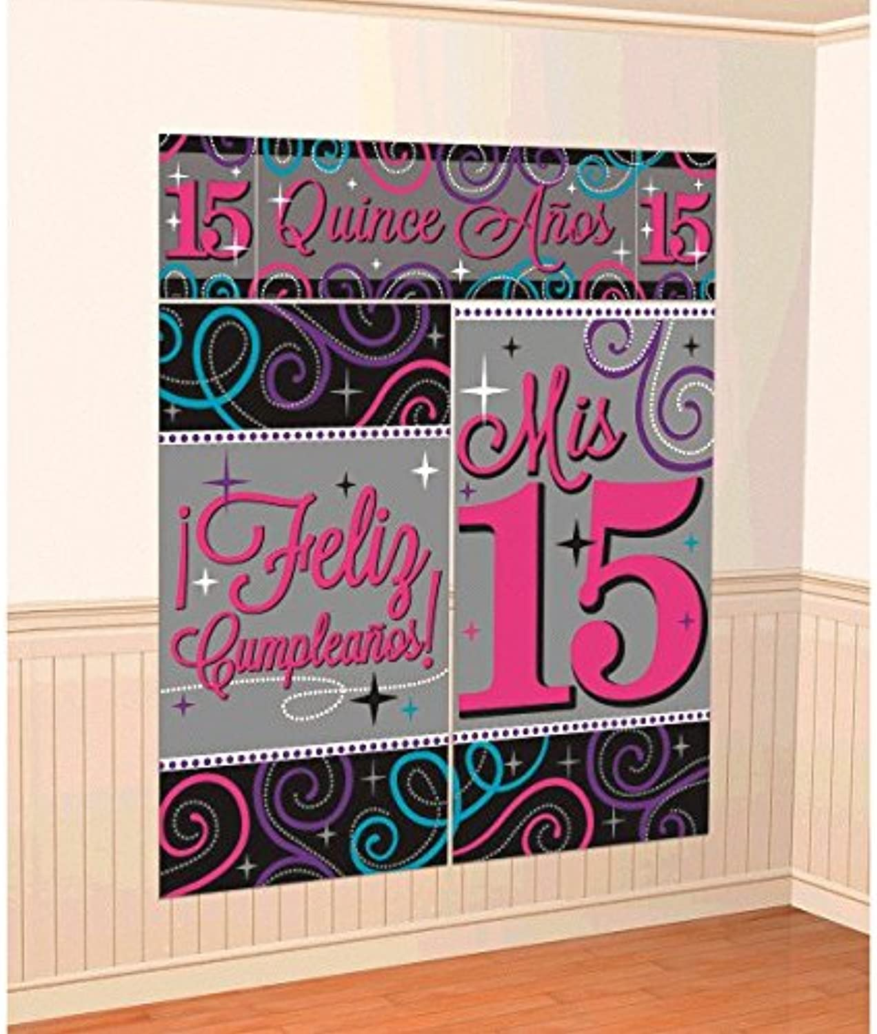 Mis Quince Anos 15th Birthday Scene Setters Wall Decorating Kit