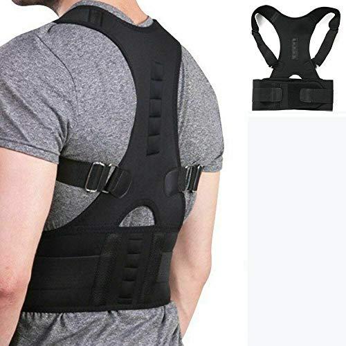 Corrector De Postura Hombre Mujer Fajas para Dolor De Espalda Chaleco Ortopedico (XL)