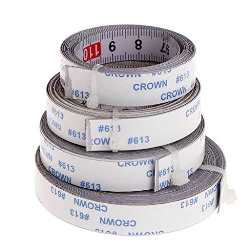 Mmnas,Selbstklebendes Maßband 1M /2M/ 3M /5M,13mm Breit,Rechts nach links, links nach rechts, mitte zu beiden seiten (Rechts nach links,1M)