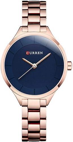 WZFCSAE Montre en Or Femmes Montres Les Les dames Creative en Acier pour Femmes Bracelet Montres Femme Horloge Relogio Feminino Montre Femme 9015,