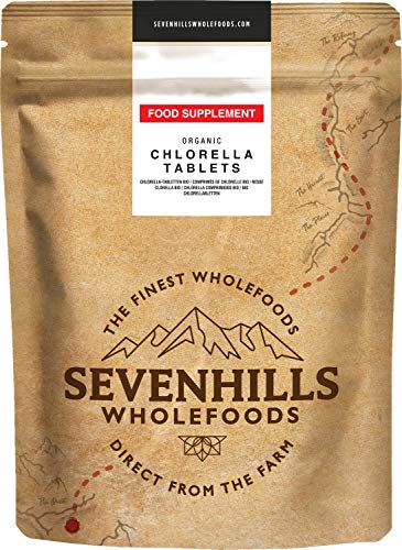 Sevenhills Wholefoods Chlorella-Tabletten Bio 1000 x 500mg, 500g