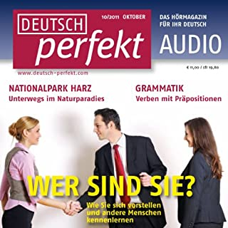 Deutsch perfekt Audio - Sich vorstellen. 10/2011 Titelbild