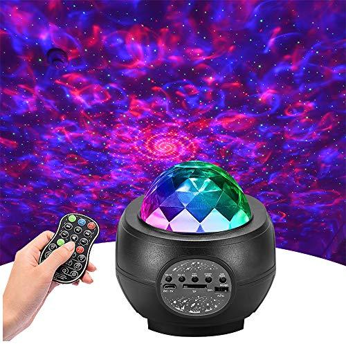 Led Sternenhimmel Projektor,Galaxy Starry Projector Light Ozeanwellen Nachtlicht Sternenhimmel Lampe, Lichtprojektor Erwachsene Party,mit Fernbedienung/Bluetooth/Timer