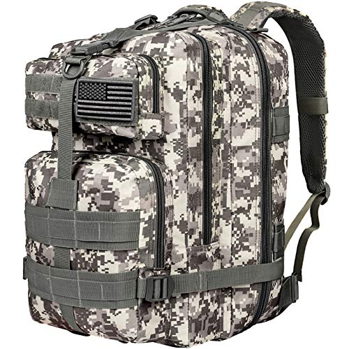 CVLIFE Military Tactical Backpack 3 Day Assault Pack Army Rucksack Molle Bag ACU