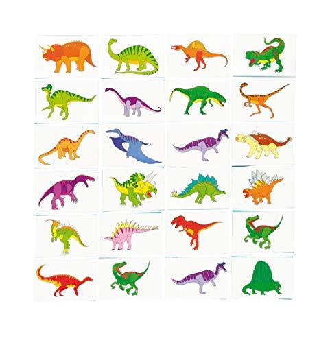 Baker Ross Tatouages temporaires de dinosaure, pour les enfants à porter, pour les remplisseuses de sacs de fête et les petits jouets pour enfants (paquet de 24)