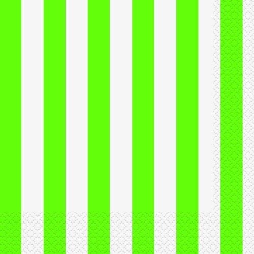 Lot de 16 serviettes en papier Motif citron vert –