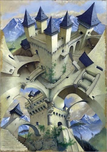 Póster 30 x 40 cm: Castle of Illusion de Irvine Peacock/MGL Licensing - impresión artística, Nuevo póster artístico