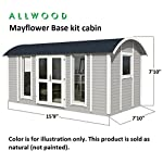 Allwood Mayflower Base   117 SQF Garden House, Cabin Kit 11 Unique style. Focal point of any garden. Total floor area 117 SQF Structures on wheels are except from permits in most states