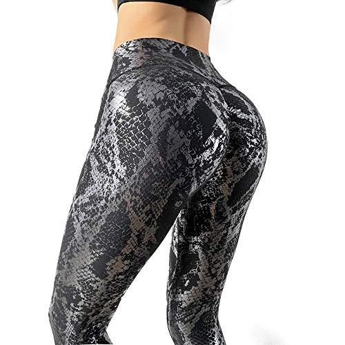 Mayas Deportivas Mujer,Pantalones de Yoga elásticos de Bronceado, Aliento de Alta Cintura.-Negro_S,Mujer Fitness Mallas Push