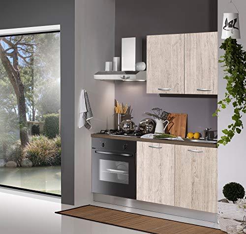 Germanvox Cucina Moderna Completa, Angolo Cottura 150 cm Elettrodomestici Inclusi