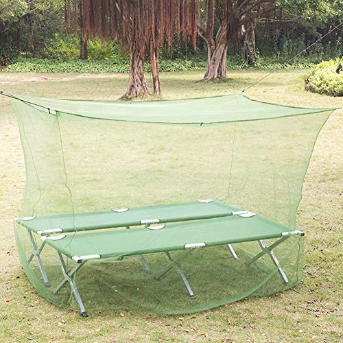 Square 4 hoekstijldisplay Klamboe Opknoping groot tweepersoonsbed Canopy Verrekening Portable for Indoor Outdoor Patio Camping, Green, 220 * 110 * 180cm QIANGQIANG