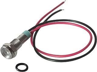 2 x SPIA LED di segnalazione ROSSO 24V 8mm in metallo cromato da pannello 2Pz.