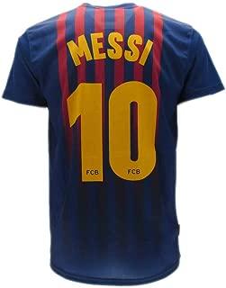 Alle Gr/ö/ßen Kinder und Erwachsene T-Shirt Fu/ßball Lionel Leo Messi 10 Barcelona Bar/ça Home Saison 2018-2019 Replica OFFIZIELLE mit Lizenz